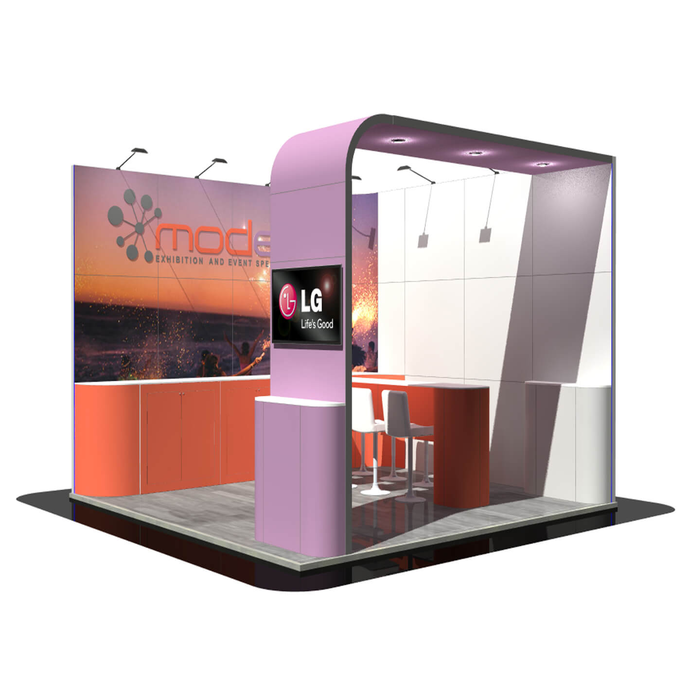 Exhibition Stand Hire Prices : Fixed price bespoke exhibition stand hire modex uk