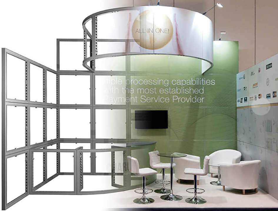 Custom Modular Exhibition Stands : Exhibition stand hire and custom exhibition design modex uk