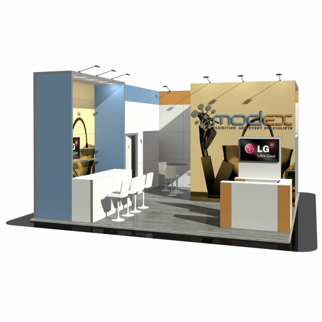 Exhibition Stand Fitting Jobs : Stylish and professional furniture for hire modex uk